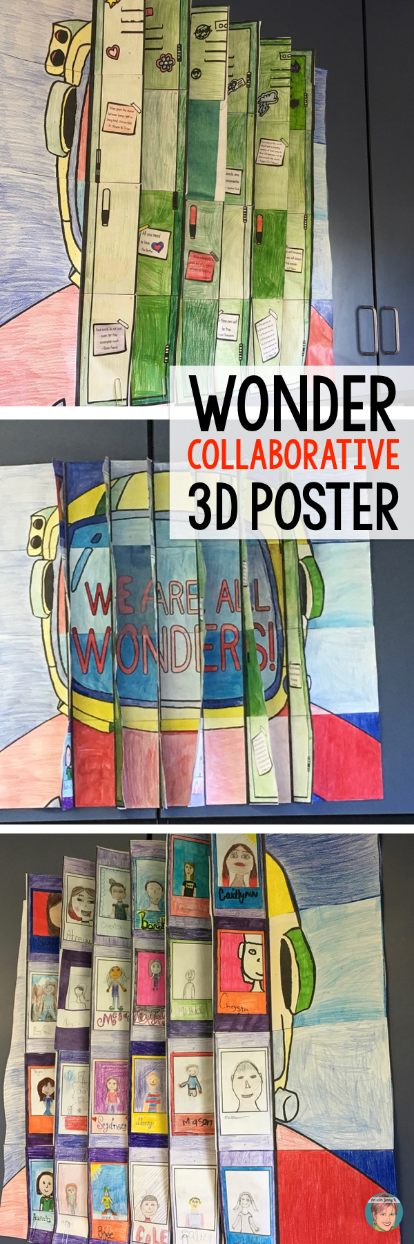 3D Wonder Collaboration Agamograph Poster for teachers and students.