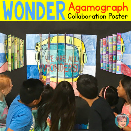 Art with Jenny K. Wonder Collaboration Agamograph Poster.