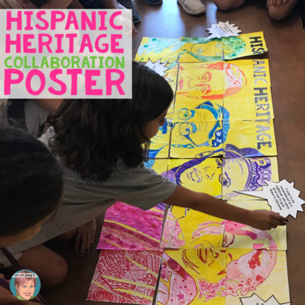 Hispanic Heritage Month Activity |Collaboration Poster