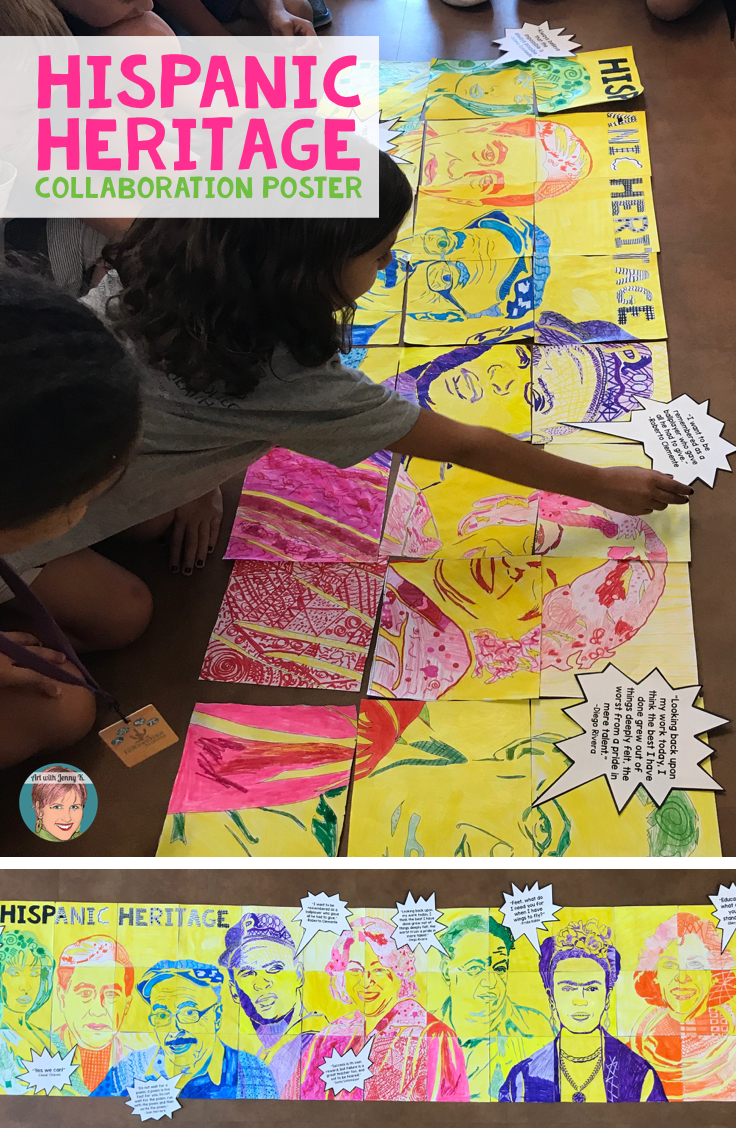 Hispanic Heritage Month Activity | Hispanic Heritage collaboration poster that students will work together to create!