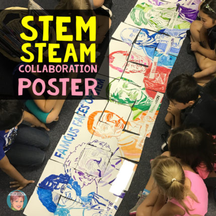 A STEAM Activity to Inspire | Famous Faces of STEAM Collaborative Poster