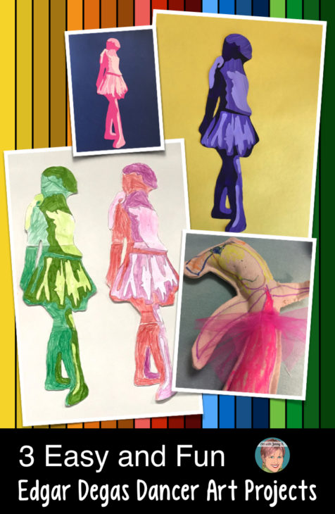 3 Easy and Fun Edgar Degas Art Projects. Great for art teachers, classroom teachers, homeschool families and parents. There is something for everyone with these fun Edgar Degas art projects.
