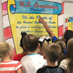 Constitution Day Activity - Constitution Preamble collaboration poster where each students gets to create one page of the overall design. Teachers love how easy they are and students love how fun they are!