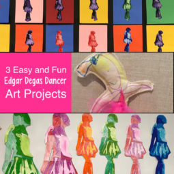 4 Easy and Fun Edgar Degas Art Projects. Great for art teachers, classroom teachers, homeschool families and parents. There is something for everyone with these fun Edgar Degas art projects.