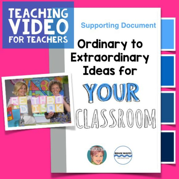 4 fun and easy ideas for your classroom to infuse it with student-created art and take it from ordinary to extraordinary!