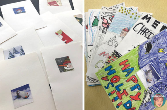 DIY Christmas Cards for Your Classroom.
