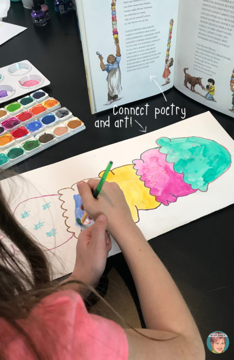 Bleezer's Ice Cream Cone Project for National Poetry Month