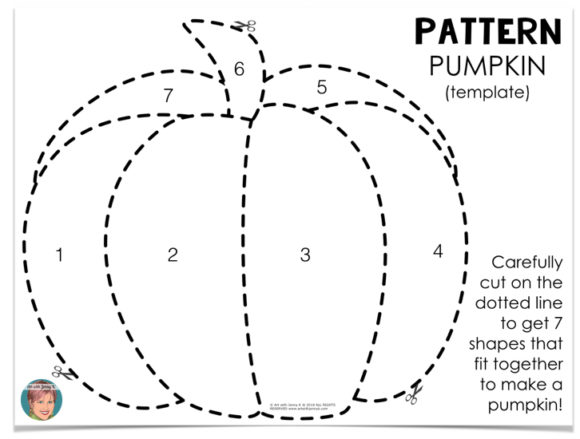 It is a graphic of Exhilarating Traceable Pumpkin Pattern